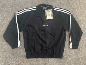 ADIDAS Drill Top Vintage Retro Training Tracksuit Pullover Football Track 90s