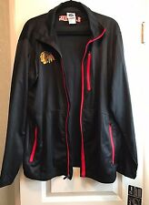 Chicago Blackhawks NHL Lightweight  Windbreaker Black Size Lg 42/44