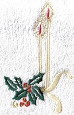 [Natale] Coppia spugna natalizia - Idea regalo - Disegno candele su bianco