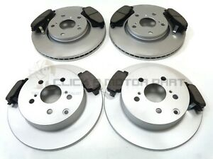 FRONT & REAR BRAKE DISCS AND PADS SET NEW FOR TOYOTA VERSO 1.6 1.8 2.0 D4D 09-15