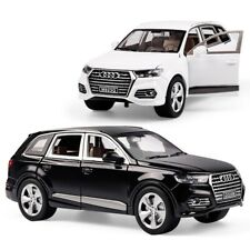 2018 Audi Q7 1:24 Scale Diecast Metal Model Car Toy Black White Vehicle NEW BOX
