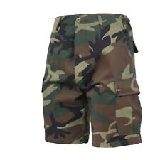 Woodland Camouflage Military BDU Button Fly Cargo Shorts 65212 Rothco