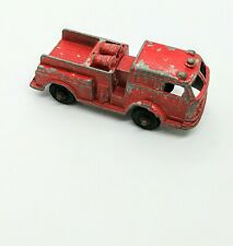 Tootsies Toys Pumper Truck Toy Cast Iron Chicago Red Collectible