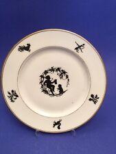 Scherenschnitt Porzellan ca. 1850 Dessertteller Fischer&Mieg 14257
