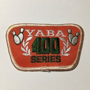 Yaba 400 Series Bowling Collectible Iron On Patch Embroidered Pre Owned Vtg 70s