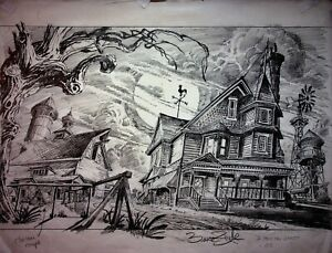 BRUCE ZICK The Real Ghostbusters SIGNED Original Production Concept Art #ZB