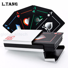New Black Poker Playing Cards Set PVC Durable Waterproof Deck with Aluminum Box