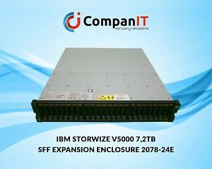 IBM STORWIZE V5000 SFF EXPANSION ENCLOSURE 2078-24E 7,2TB