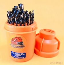 Drill Hog® 29 Pc Drill Bit Set Index HI-Molybdenum Super M7+ Lifetime Warranty