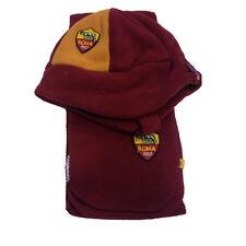 ROMA set sciarpa+cappello rosso con paraorecchie in morbido pile da bimbo