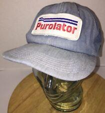 Vintage PUROLATOR 80s DENIM Hat Cap Snapback Oil Filter Gas Automotive RARE USA