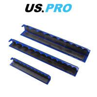 "US PRO Tools 3 Piece Magnetic Socket Holder Storage Rail 1/4"" 3/8"" 1/2"" Drives"