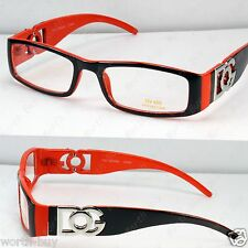 New DG Clear Lens Frames Glasses Fashion Nerd Rectangular Designer Brown Orange