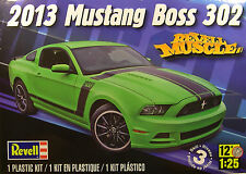 2013 FORD MUSTANG BOSS 302 REVELL MUSCLE 1:25 SCALE REVELL PLASTIC MODEL CAR KIT