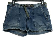 Thursday Island Women Jean Shorts Cotton Buckle Denim Size 28 Blue