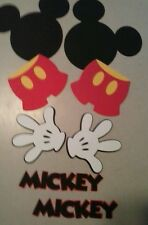 8 Piece Mickey Mouse Party, Birthday, Paper Craft,banner,centerpiece,scrapbook