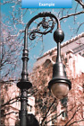 Vintage NYC Street Light for Pole - Street Light,  Antique LED Renaissance Urban