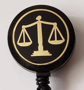 LAWYER COURT PARALEGAL JUDGE Retractable Badge Reel Security ID Key Card Holder