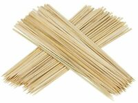 100 Bamboo Skewers Wooden Bbq Sticks Grill Shish Kebab Fruit Barbecue Party 30CM