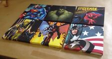 Set Of 6 MARVEL + DC SUPERHERO PICTURES On Canvas 8 X 8 Inches