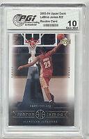 Upper Deck 2003-04 LeBron James PGI 10 Rookie Card 22 Lakers
