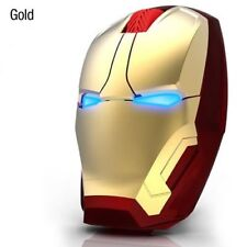 4D 1600DPI Adjustable Iron Man LED Wireless USB Game Mice Mouse Laptop Computer