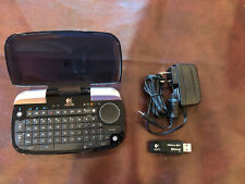 Logitech diNovo Mini Black Bluetooth Wireless Keyboard+Charger+ USB Reciever
