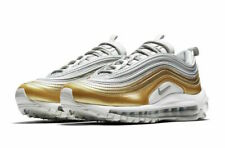 Nike Air Max 97 SE Gray Metallic Gold White Running Shoes AQ4137-001 Size 7