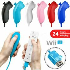 1/2 Nunchuck Wii Nunchuk Video Game Controller Remote for Wii & Wii U Remote
