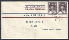 Curacao covers 1929 1st Flightcover Curacao-Cristobal to Colon