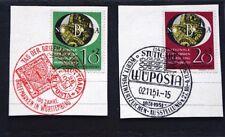 Repubblica federale di Wuppertal 1951 a 2 splendida lettera pezzi con timbro speciale