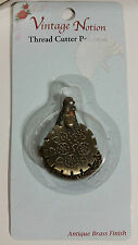 "VINTAGE NOTION ""THREAD CUTTER PENDANT"" ANTIQUE BRASS FINISH FOR CHATELAINE"