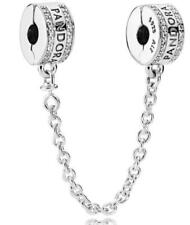 AUTHENTIC PANDORA SILVER INSIGNA SAFETY CHAIN #792057CZ-05