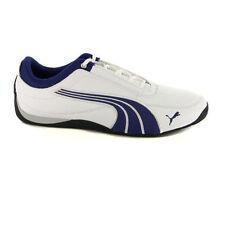 45651a93d44d kids Puma Unisex Drift Cat 4 Jr White Navy Blue White Leather trainers size  13