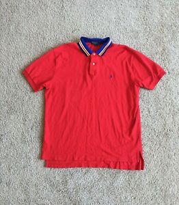 Polo Ralph Lauren Pique Polo Shirt Men's Size XL Red Cotton Short Sleeve Shirt