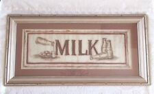 Judy Kaufman MILK Framed Print Antique French Country Finish 20 x 10