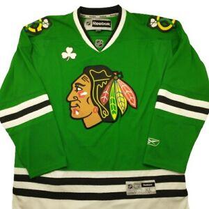 Reebok Chicago Blackhawks St. Patrick's Day NHL Hockey Jersey Green Alternate