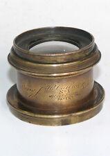BEAUTIFUL J. H. Dallmeyer Rectilinear NO. I  Brass Lens, London Patent