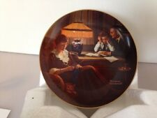 """Norman Rockwell """"Father's help"""" Original Plate 1983 Plate 10334 B"""