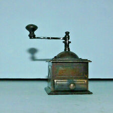 NEAT MINIATURE BRASS COLORED PENCIL SHARPENER COFFEE GRINDER