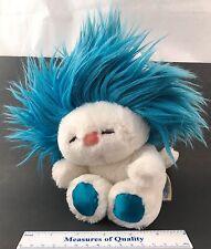 "Dakin Frou Frou Nature Babies Blue Hair white Plush 1982 rare silky paws 9""  r4"