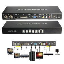 Hot CVBS VGA DVI HDMI Composite R/L All to HD 3G SDI Scaler Converter HD Video