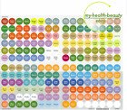 NEW doTERRA Aromatherapy Essential Oil One Cap Label Sheet 204 Stickers