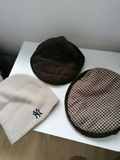 Mens flat cap hats in Brown One size New York woolly hat