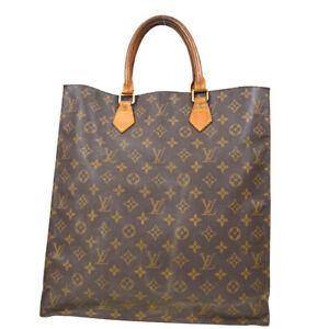 LOUIS VUITTON SAC PLAT HAND TOTE BAG PURSE MONOGRAM CANVAS M51140 ao 70823