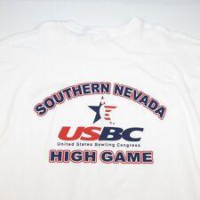NEW SOUTHERN NEVADA USBC UNITED STATES BOWLING CONGRESS HIGH GAME T SHIRT Sz XXL