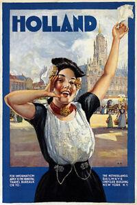 Holland Tourism Vintage Travel Poster