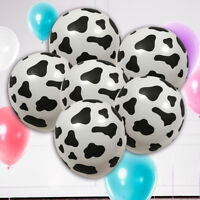 10PCs Cow Print Latex Balloon Party Wedding Birthday Decoration Black White 12cm
