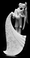 "NIB ROMAN INC GINA FREEHILL ""KISS"" BRIDE & GROOM WEDDING CAKE TOPPER STATUE 9"" H"