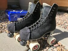 New listing Riedell 135 Zone Roller Skate D width size 5 black suede made in Usa